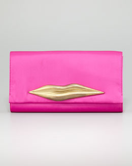 Diane von Furstenberg Carolina Lips Clutch Bag