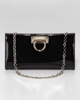 Salvatore Ferragamo Patent Leather Norina Wallet