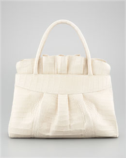 Nancy Gonzalez Ruffle-Top Tote Bag