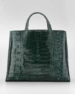 Nancy Gonzalez Studded Crocodile Tote Bag