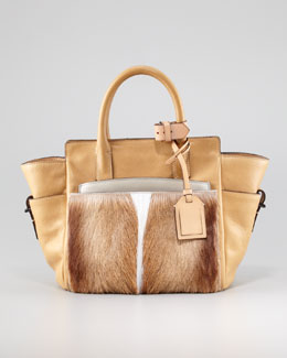 Reed Krakoff Atlantique Mini Fur/Leather Tote Bag, Spring