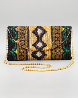 Moyna Southwestern Beaded Clutch Bag