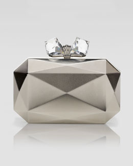 Overture Judith Leiber Danielle-Faceted Rectangle Metal Clutch Bag