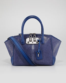 VBH Brera Stingray Satchel Bag, Midnight