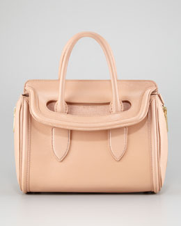 Alexander McQueen Small Heroine Satchel Bag, Blush