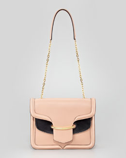 Alexander McQueen Heroine Shoulder Bag, Blush/Black