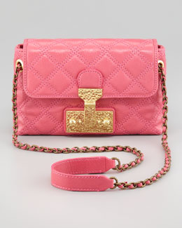 Marc Jacobs The Single Baroque Quilted Bag, Bubblegum