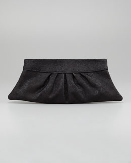 Lauren Merkin Louise Lizard-Embossed Clutch Bag, Black