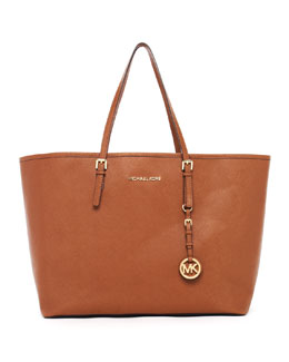 MICHAEL Michael Kors  Jet Set Medium Saffiano Travel Tote, Luggage