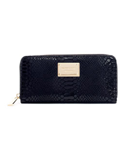 MICHAEL Michael Kors  Jet Set Python-Embossed Continental Wallet
