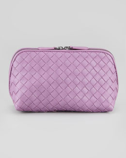 Bottega Veneta Woven Medium Cosmetic Bag, Purple