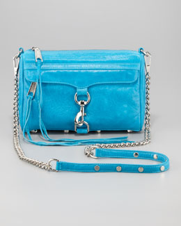 Rebecca Minkoff Mini M.A.C. Crossbody Bag, Turquoise