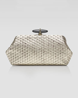 Judith Leiber Whitman Optical Karung Clutch Bag, Champagne