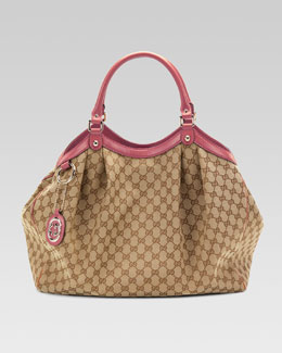 Gucci Sukey Large Original GG Canvas Tote, Soft Rose