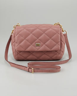 Dolce & Gabbana Miss Kate Quilted Crossbody Bag, Dark Rose