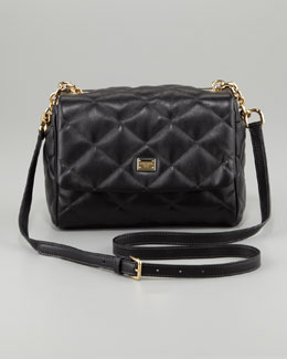 Dolce & Gabbana Miss Kate Quilted Crossbody Bag, Black