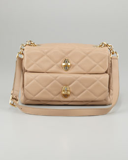 Dolce & Gabbana Miss Agnes Quilted Shoulder Bag, Beige