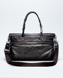 Lanvin Amalia Double-Wear Satchel Bag, Black