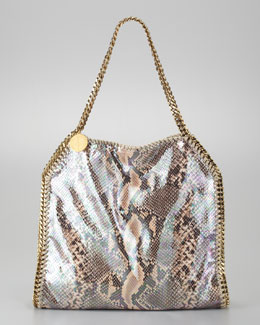 Stella McCartney Baby Bella Faux Python Tote Bag, Nude