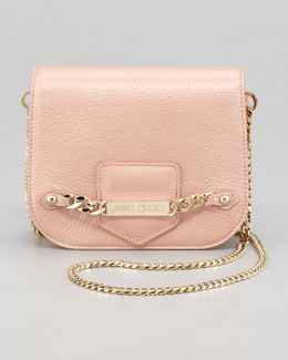 Jimmy Choo Shadow Metallic Crossbody Bag, Blush
