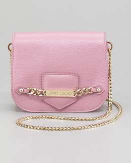 Jimmy Choo Shadow Metallic Crossbody Bag, Peony