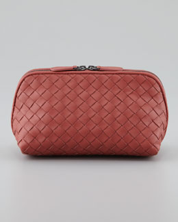 Bottega Veneta Veneta Medium Cosmetic Bag, Coral