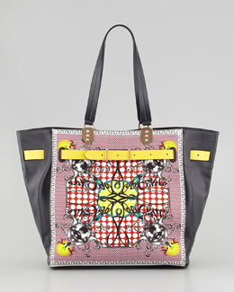 Christian Louboutin Sybil Large Printed Tote Bag