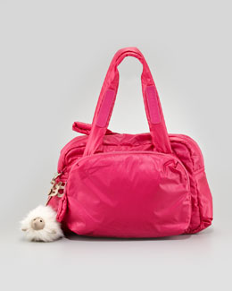 See by Chloe Joyrider Zipped Puffer Shoulder Bag, Pink