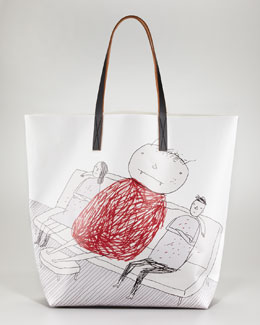 Marni Printed Shopper