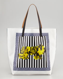 Marni Tiger-Print Tote Bag