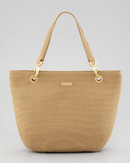 Eric Javits Squishee Clip Tote Bag, Natural