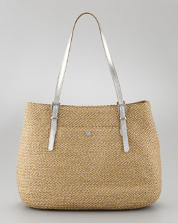 Eric Javits Jav II Square Squishee Tote Bag, Natural