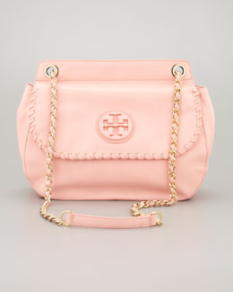 Tory Burch Marion Leather Saddle Bag, Pink