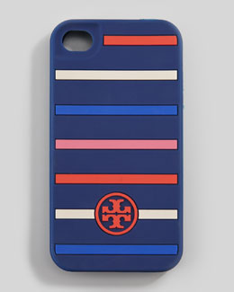 Tory Burch Classic Stripe Silicone iPhone 5 Case, Navy