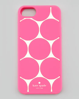 kate spade new york deborah dot iPhone 5 case, cream/pink