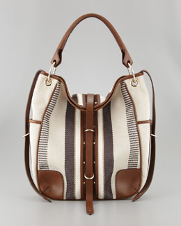 Belstaff Nash Raffia Hobo Bag