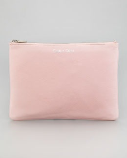 Rebecca Minkoff Lissa Secret Stash Pouch Clutch, Petal Pink