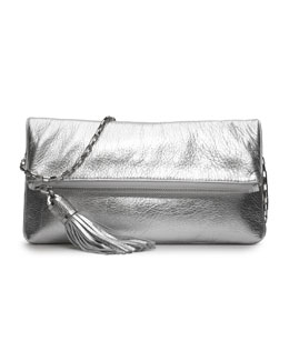 Michael Kors  Tonne Metallic Fold-Over Clutch