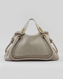 Chloe Paraty Medium Shoulder Bag, Gray