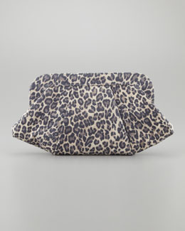 Lauren Merkin Tatum Washed Leopard Clutch Bag