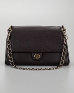 Donna Karan Medium Chain Link Calfskin Leather Shoulder Bag