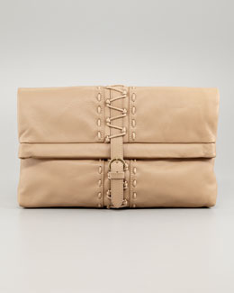 Donna Karan Bokori Light Grain Leather Clutch