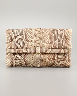 Donna Karan Bokori Hand-Painted Python Clutch Bag