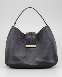 Gucci New Ladies Web Large Hobo Bag, Nero