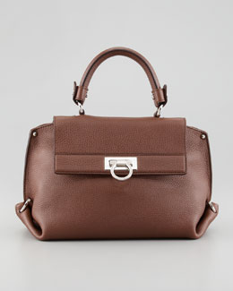Salvatore Ferragamo Sofia Satchel Bag, Taupe