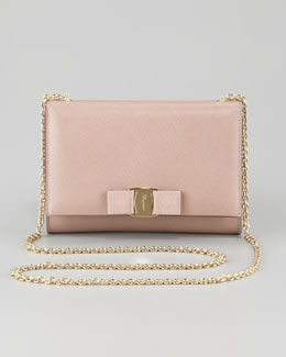 Salvatore Ferragamo Miss Vara Bow Clip Shoulder Bag, Rose