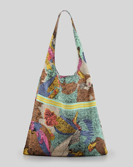 12th Street by Cynthia Vincent Parrot Scarf Shopper Bag