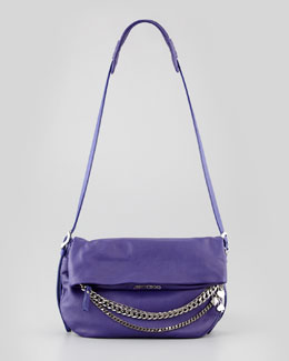 Jimmy Choo Biker Small Crossbody Bag, Purple