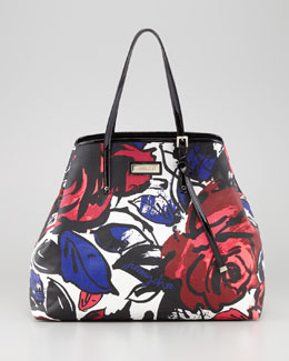 Jimmy Choo Sasha Large Printed Canvas Tote Bag