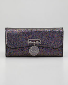 Christian Louboutin Riviera Glittered Clutch Bag
